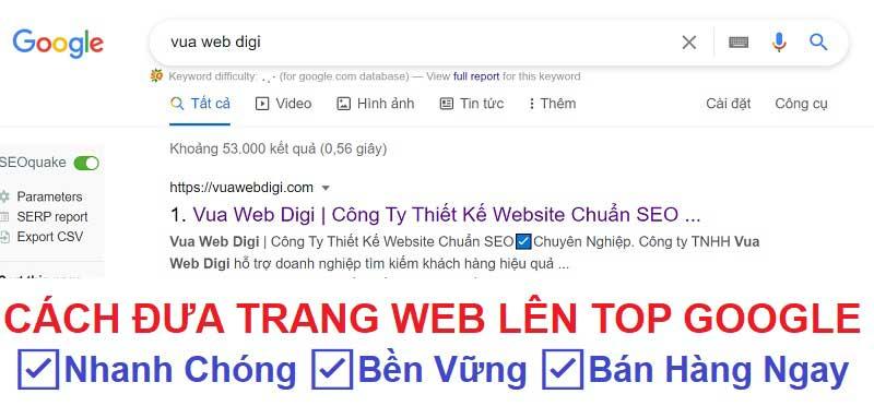 Cách đưa trang web lên top Google