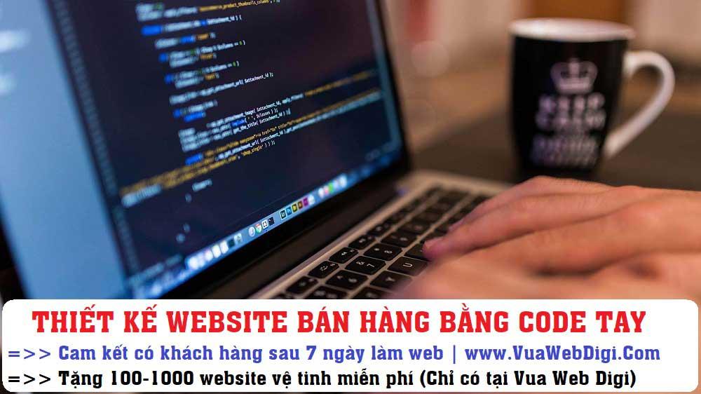 Thiết kế website bán hàng bằng code tay