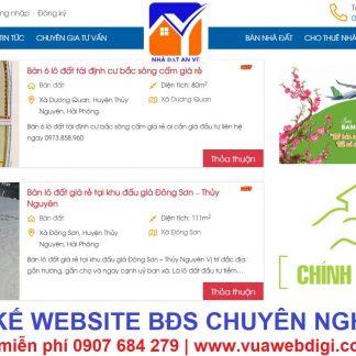 Thiết kế website bđs chuyên nghiệp