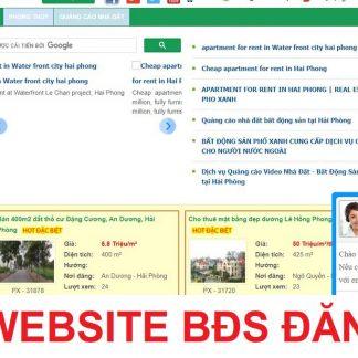 Thiết kế website bds đăng tin tức, tin rau vặt, tin VIP