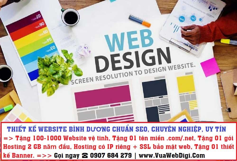 Thiết kế website Bình Dương chuẩn SEO, chuyên nghiệp
