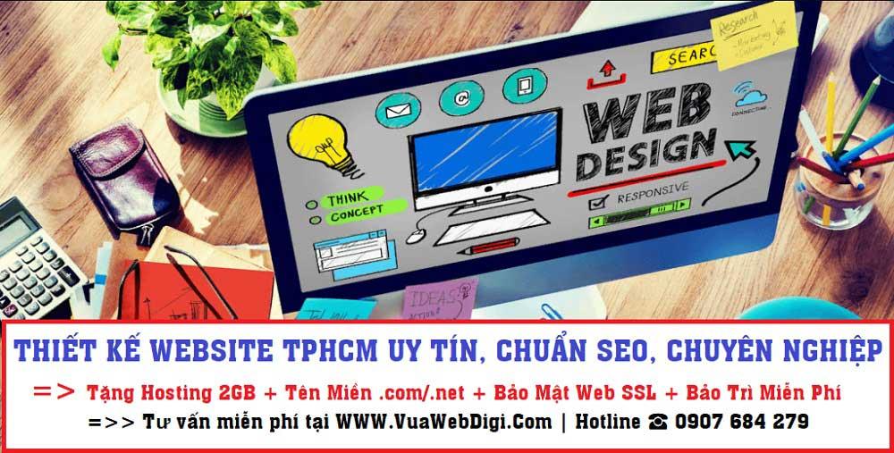 Thiết kế website TPHCM uy tín chuyên nghiệp