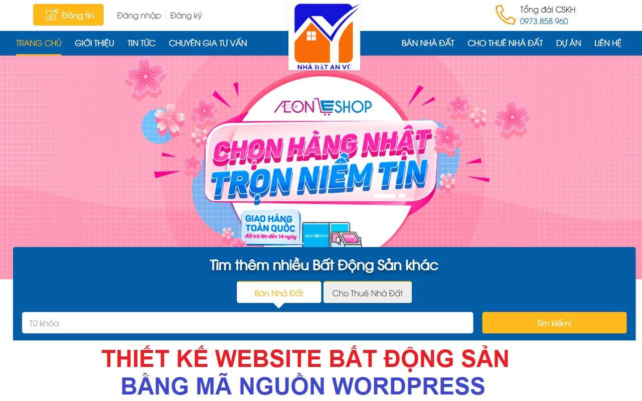 Thiết kế website bất động sản bằng mã nguồn WordPress
