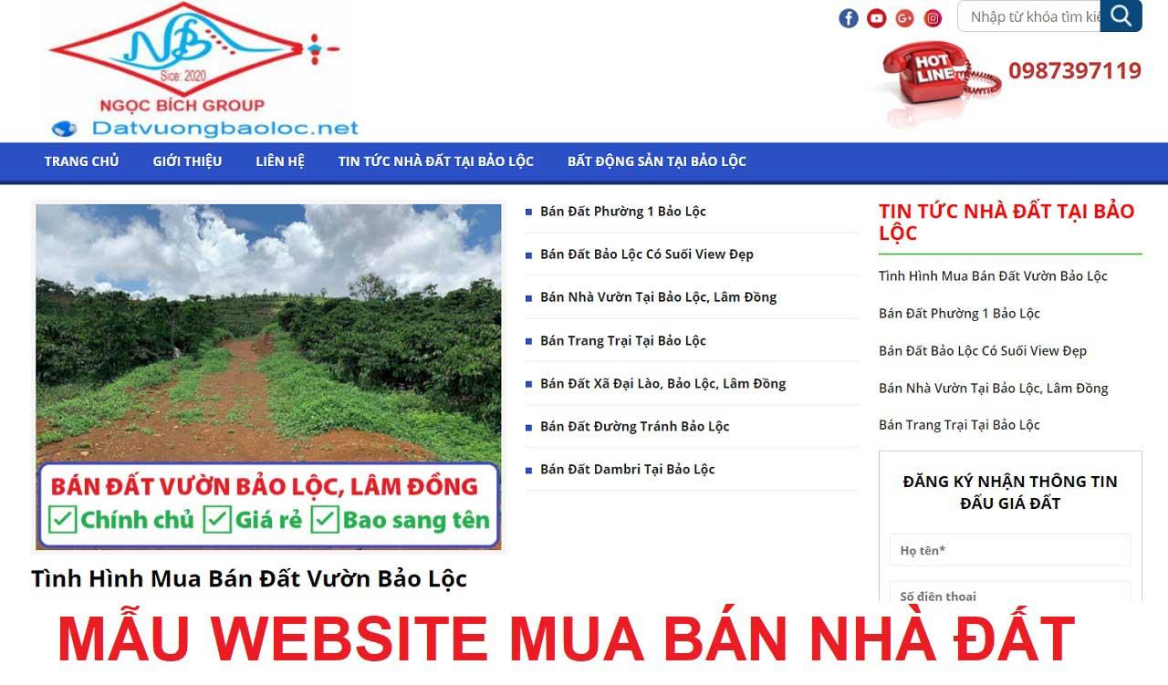 Thiết kế website mua bán nhà đất tại TPHCM, Hà Nội, Đà Nẵng và các tỉnh thành trên toàn quốc