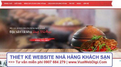 Thiết kế website nhà hàng khách sạn
