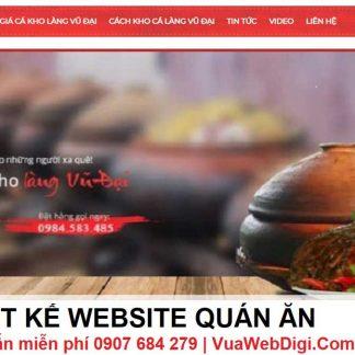Thiết kế Website quán ăn tại Vũng Tàu, Bình Định, Đồng Nai ngay nào