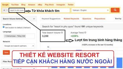 Thiết kế website resort tiếp cận khách hàng nước ngoài